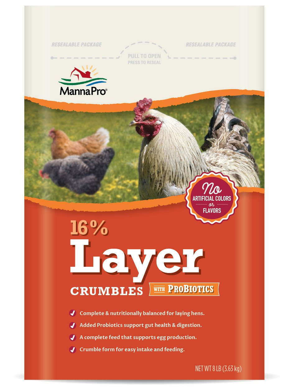 Manna Pro 16-Percent Layer Crumbles with Probiotics, 8 lb by Manna Pro (Image #1)
