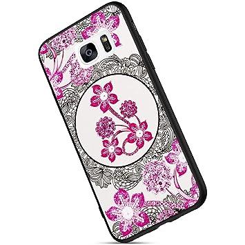 Ukayfe Compatible con Samsung Galaxy S7 Edge, [Purpurina ...