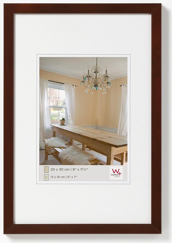Walther Design Bp040n Peppers Bilderrahmen Holz 30 X 40 Cm Nussbaum Küche Haushalt