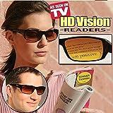 HD Vision Readers- BiFocal Sunglasses, Black 3.0