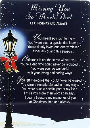 Missing Dad At Christmas.Loving Memory Christmas Graveside Memorial Card Missing You Dad 6 X 4