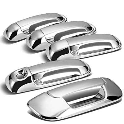 Tailgate + Door Handle Cover (Chrome) For 2002- 2008 Dodge Ram 4DR: Automotive