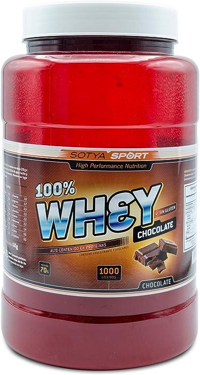SOTYA Proteína Whey 100% Chocolate Belga 1 kg: Amazon.es ...