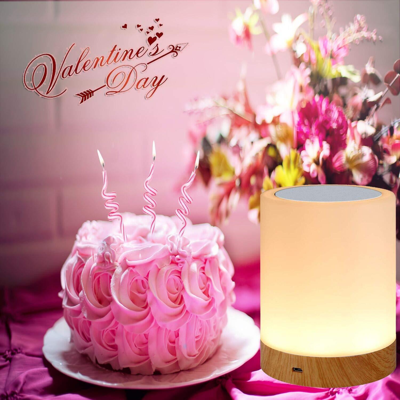 Amouhom LED Nachtlicht mit Fernbedienung 13 Farben Touch Control Nachttischlampe Freunde Bestes Geschenk f/ür Kinder Wiederaufladbare Lithiumbatterie