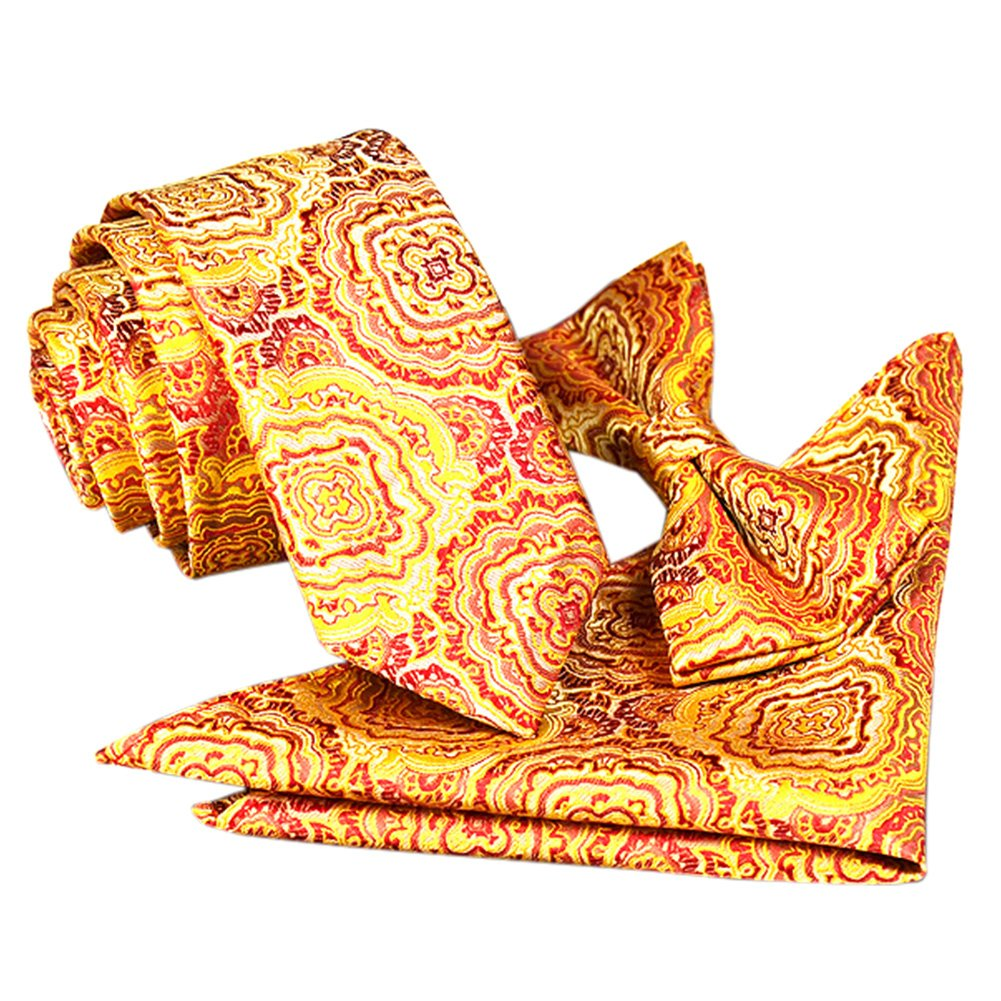 High-End-M/änner Krawatte Fliege Einstecktuch Blumenhoch