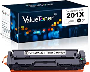Valuetoner Compatible Toner Cartridge Replacement for HP 201A 201X for Color Laserjet Pro MFP M277dw M252dw M277n M277c6 M252n M252 M277 Printer (Black)