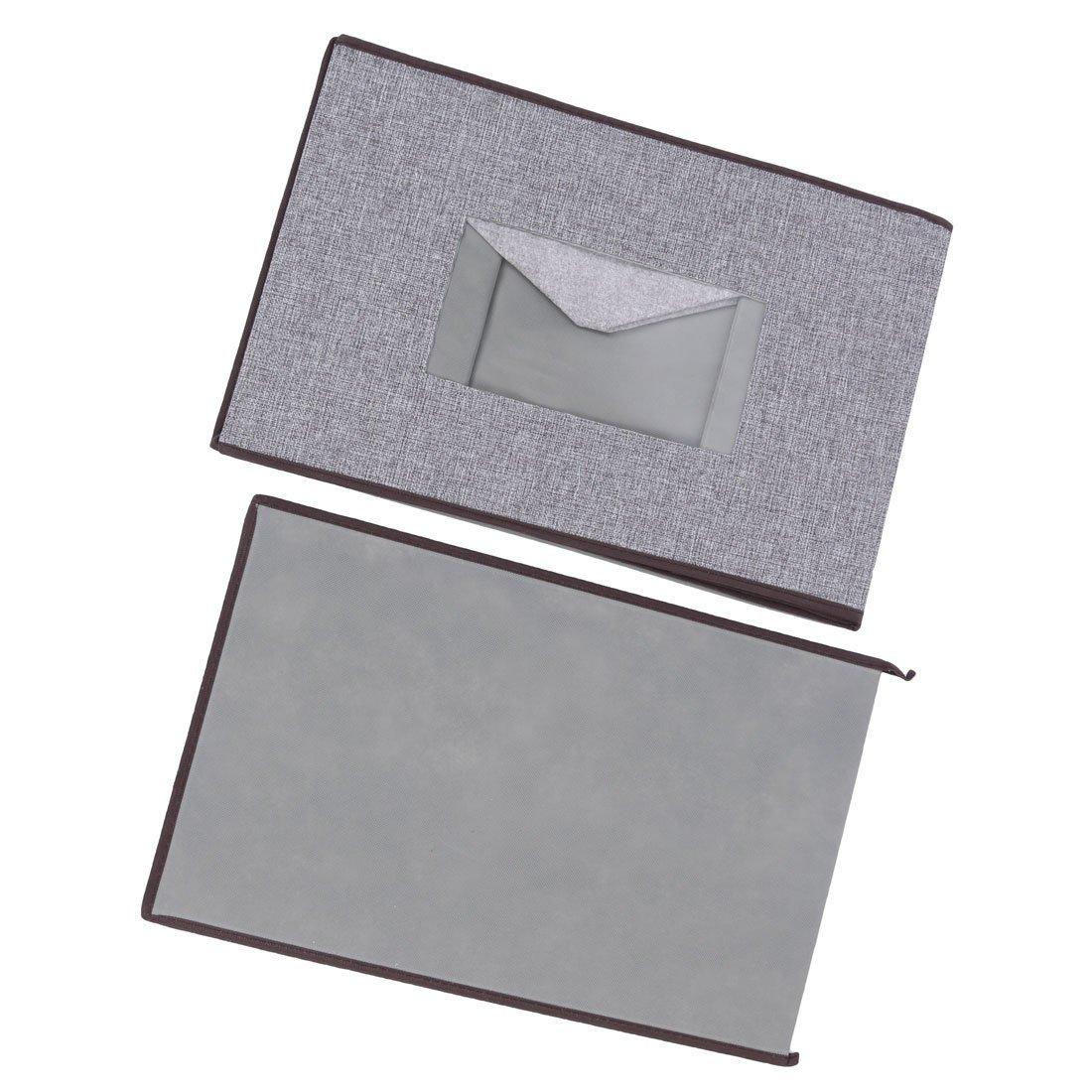 Amazon.com : eDealMax lino plegable Familia Escudo Titular del edredón caja de Libro de caja de almacenamiento DE 49 x 32 x 31 cm Gris : Office Products
