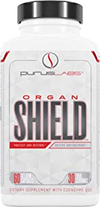 Purus Labs Organ Shield Active Antioxidant – Protect & Restore – 30 True Servings – Antioxidants – Detoxification – Promote Healthy Liver, Prostate & Heart