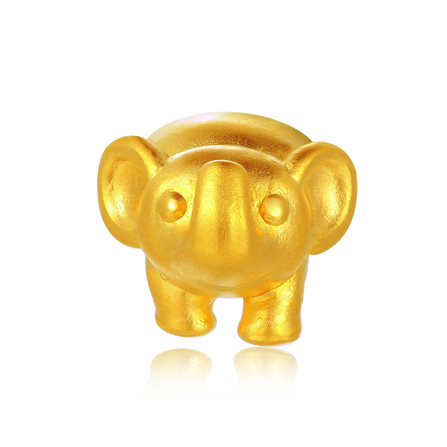 MaBelle 24K Gold Baby Fortune Hypoallergenic Charm Bracelet Baby Elephant, Gift For Newborn Baby Boys and Girls