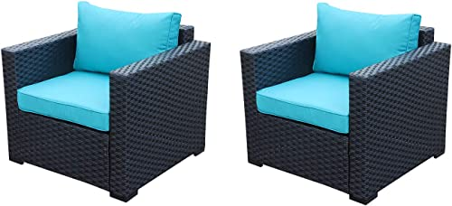 Patio Rattan Wicker Single Chair-Outdoor Armchair Sofa Furniture