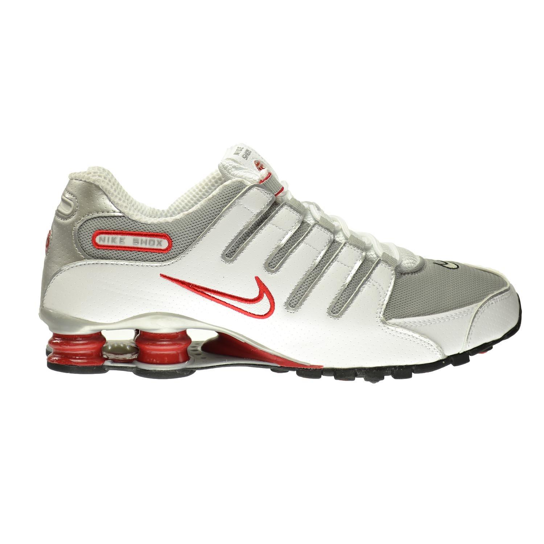 buy popular 40b99 7f08c NIKE Shox NZ Men s Shoes White Metallic Silver-Sport Red-Clay Grey 378341- 104 (13 D(M) US)  Amazon.co.uk  Shoes   Bags