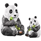 Mother And Baby Panda Garden Statue Set - 2 Pc, White