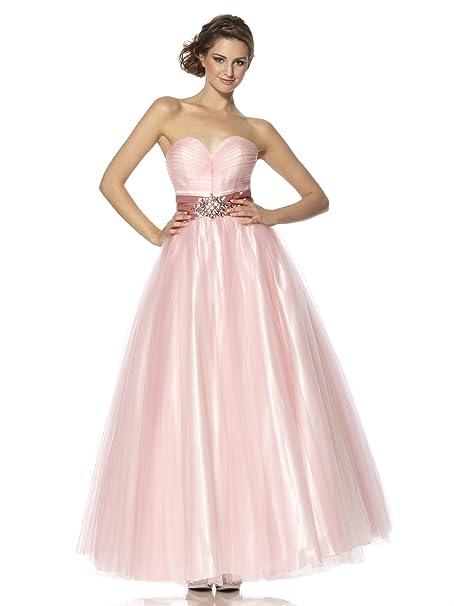 Yasmin - Vestido - sujetador bandeau - Sin mangas - para mujer rosa rosa 36: Amazon.es: Ropa y accesorios