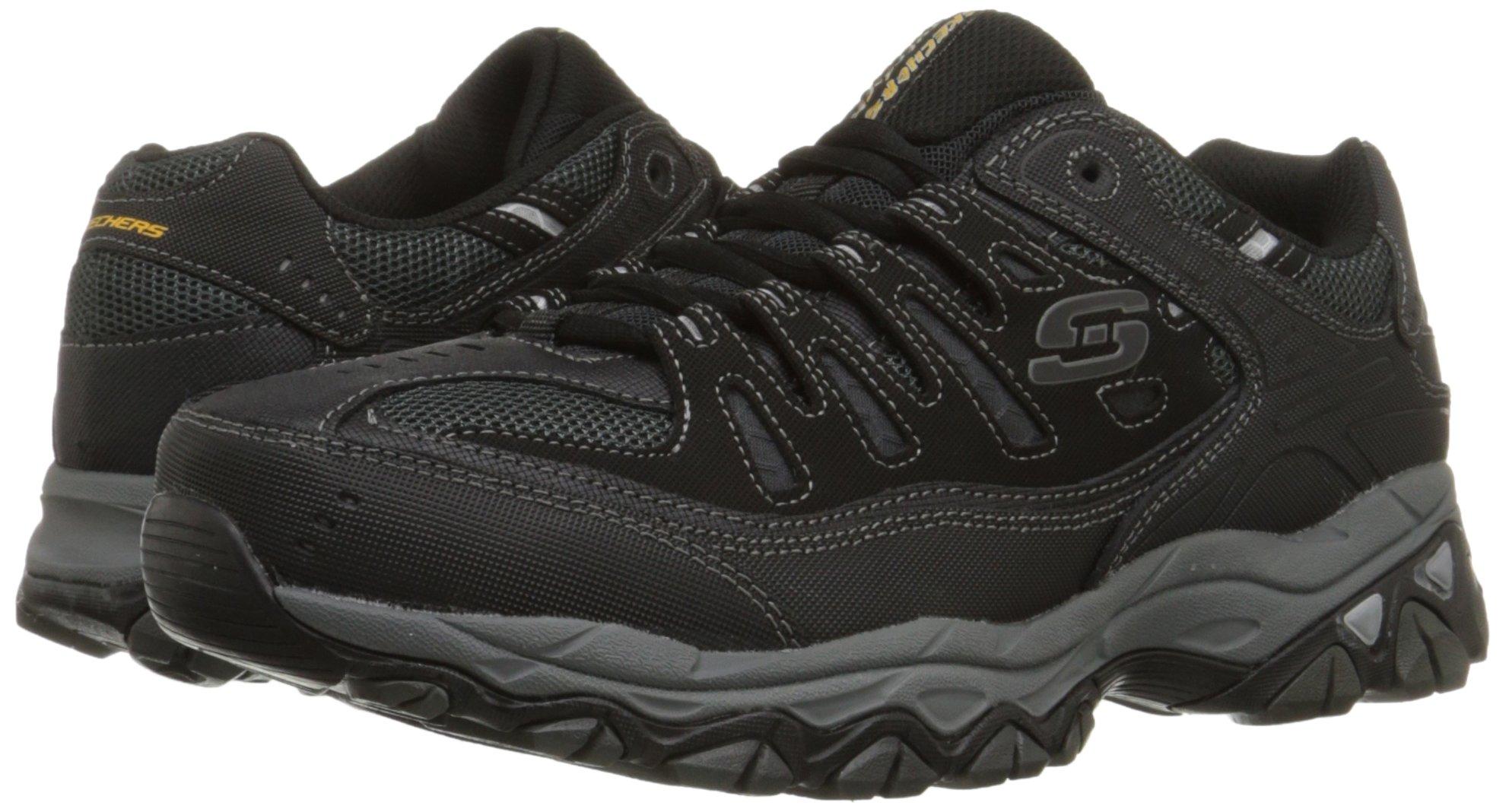Skechers Men's AFTERBURNM.FIT Memory Foam Lace-Up Sneaker, Black, 6.5 M US by Skechers (Image #6)