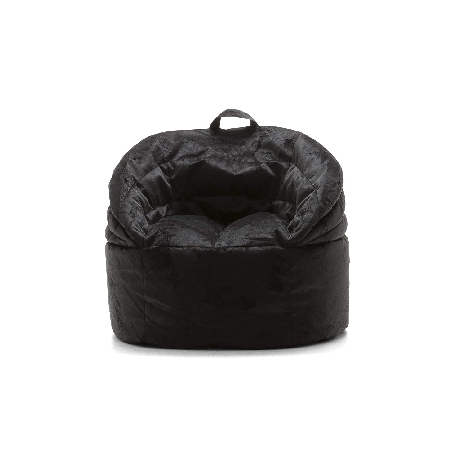 Big Joe 0680540 Stack Chair, Black Plush Bean Bag,