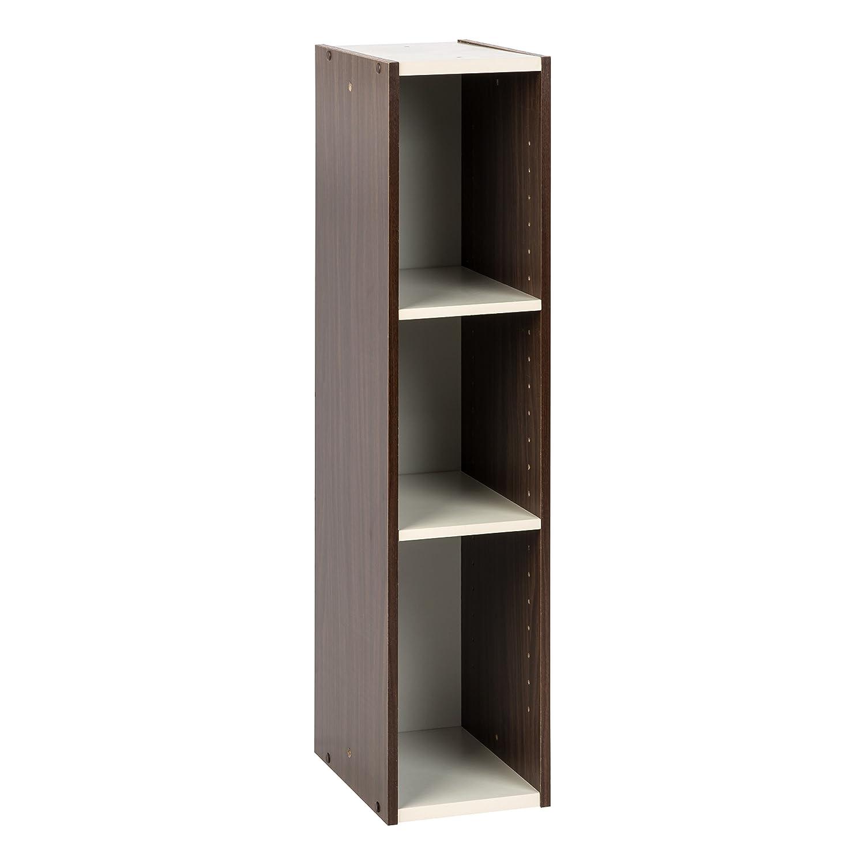 "IRIS USA, UB-9020, Slim Space Saving Shelf with Adjustable Shelves, 8 x 34"", Walnut Brown, 1 Pack"