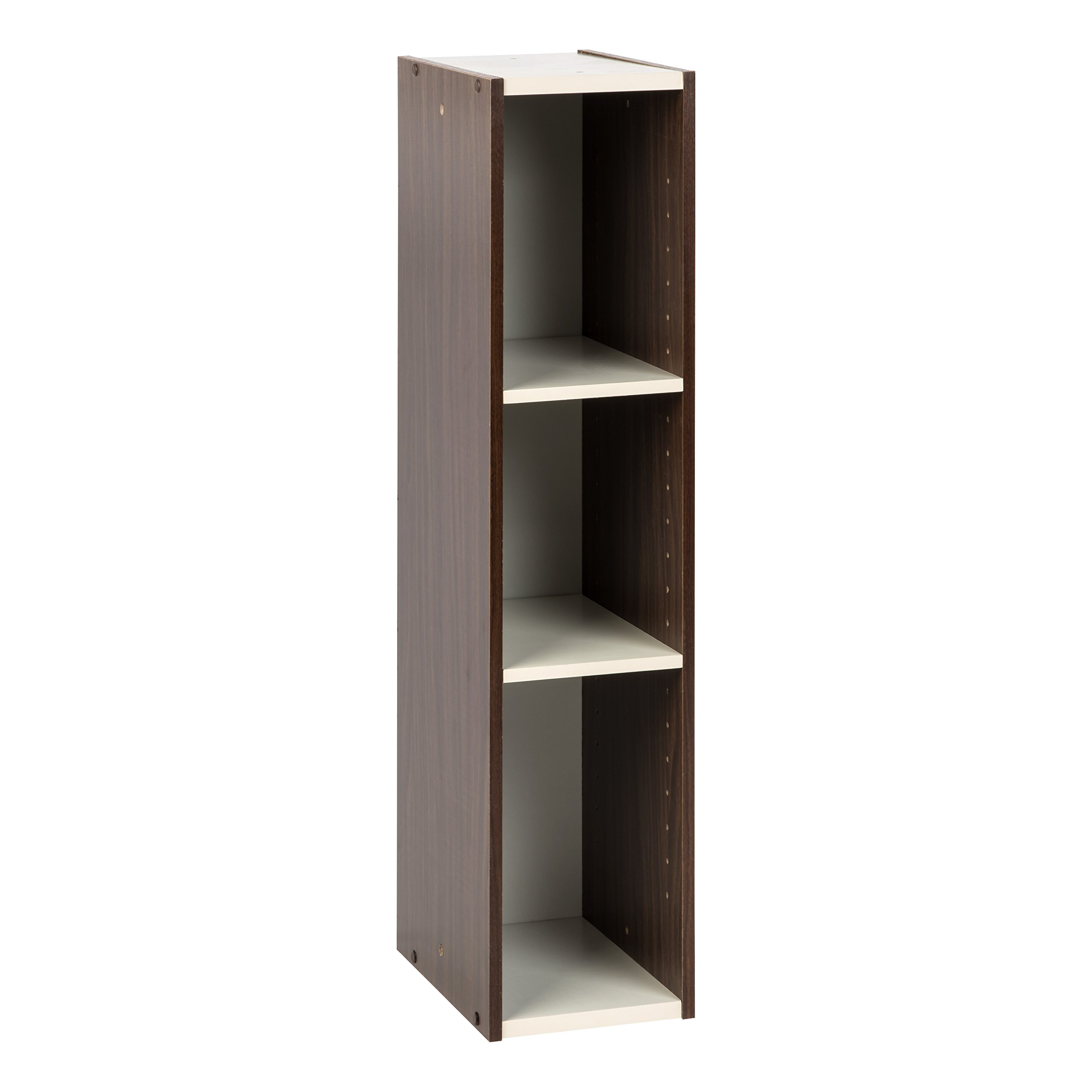 IRIS USA, UB-9020, Slim Space Saving Shelf with Adjustable Shelves, 8 x 34'', Walnut Brown, 1 Pack