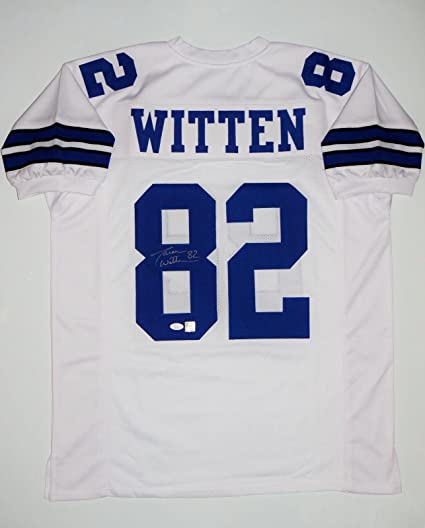 e94e33f9 Jason Witten Autographed Jersey - White Pro Style Witnessed Auth - JSA  Certified - Autographed NFL Jerseys
