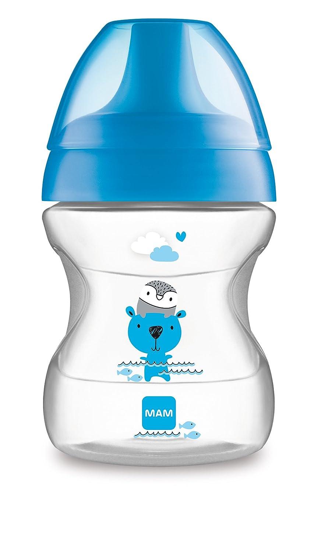 MAM 62835111 - Learn To Drink Cup Fashion190 ml, Trinklernbecher für Jungen MAM Babyartikel