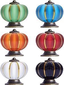 Cabinet Knobs(6 per Pack Multicolor) Vintage Ceramic Knobs Dresser Drawer Cupboard Wardrobe Knobs for Home,Kitchen,Bathroom,Office and More!