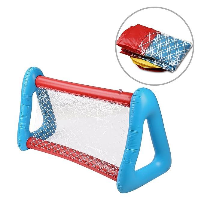 HeySplash Piscina Inflable Volador Disco Conjunto, Outdoors Juego Agua Deportes Diversión Flotador Frisbee Kits de Agua Juguetes Conjunto: Amazon.es: ...