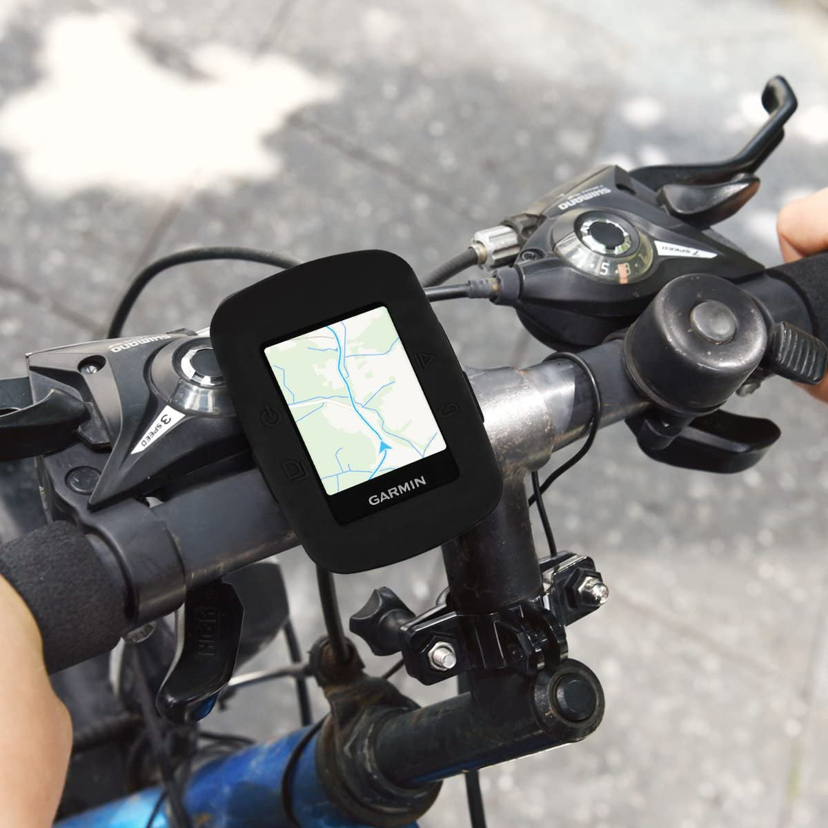 Soft Silicone Bike GPS Navigation System Protective Cover kwmobile Case Compatible with Garmin Edge 200 500