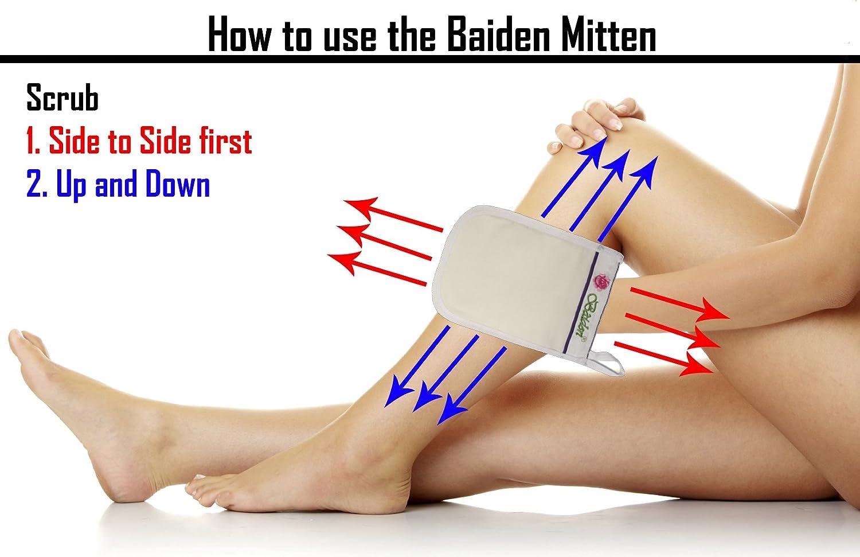 Amazon : Baiden Mitten Superior Exfoliator Glove, Facial, Body Scrub,  Best Firming Dry Skin Treatment, Repair Wrinkles Remove Blackheads Scars,