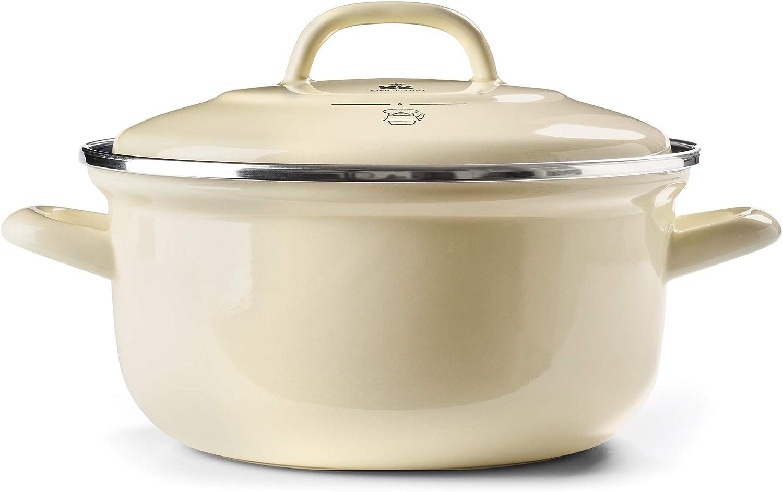 BK Cookware CC002467-001 Dutch Oven 2.5QT, Cream