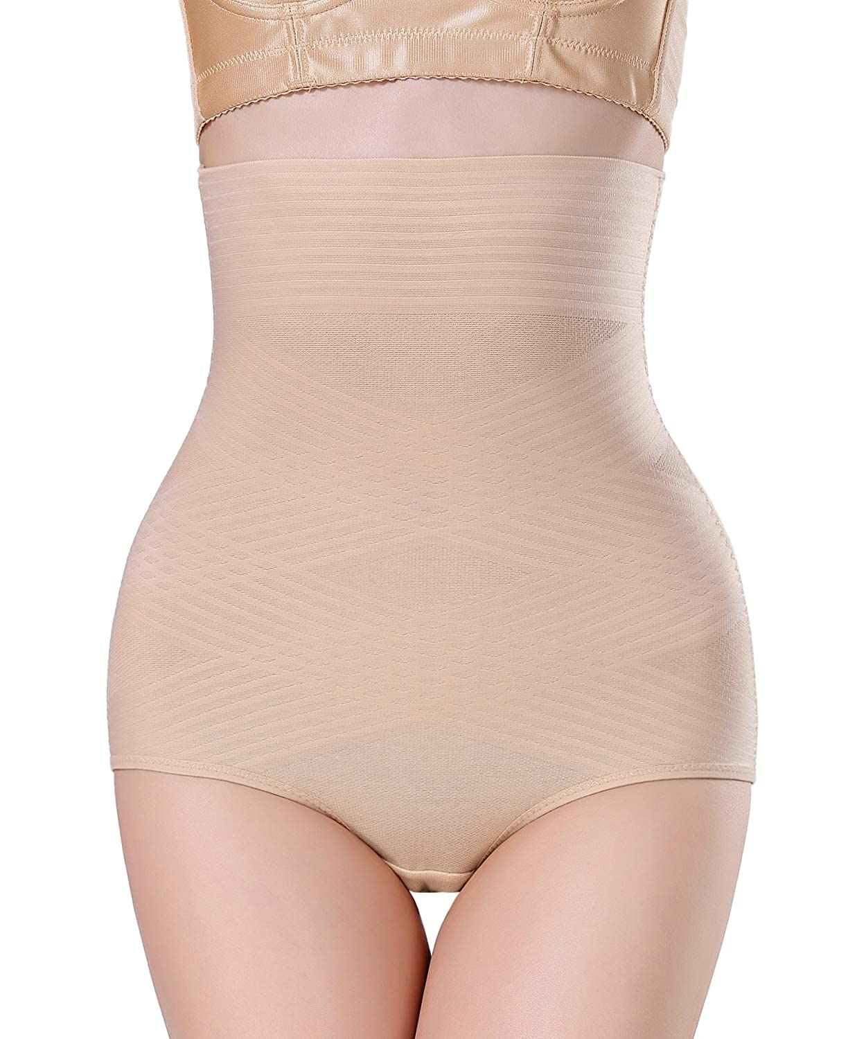 1b09a5af511ec0 AGROSTE Womens Shapewear Panties Bodysuit Body Shaper High Waist Tummy  Control Seamless Strapless Slimming Shorts Briefs at Amazon Women s  Clothing store