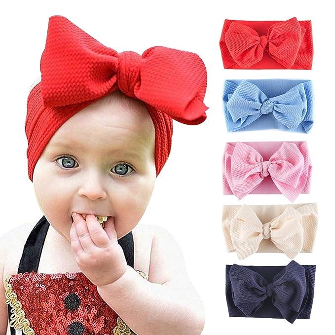 Amazon.com: Byinns - Diademas de lazo grande para bebé (5 ...