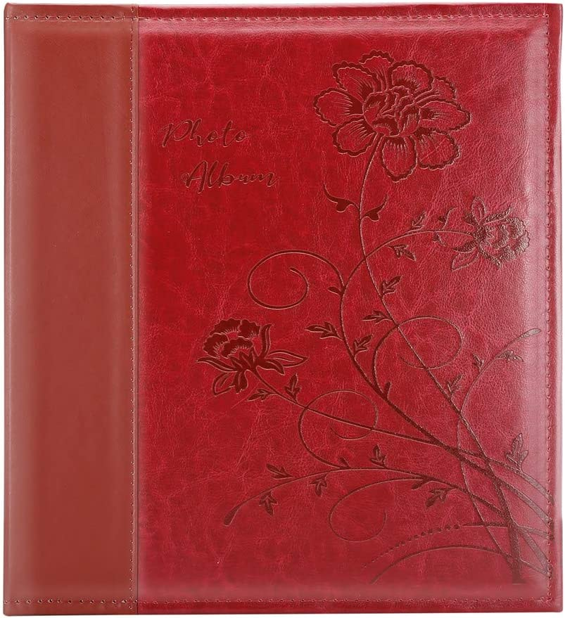 Artmag Photo Album 4x6 600 Photos Large Capacity Wedding Family Leather Cover Picture Albums Holds 600 Horizontal and Vertical 4x6 Photos with Black Pages Black