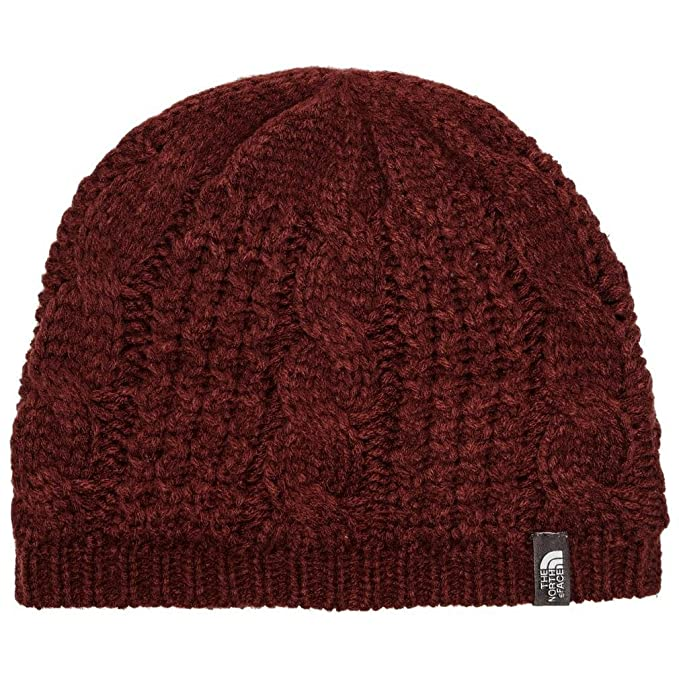 Amazon.com  The North Face Women s Cable Minna Beanie Barolo Red OS ... 7a93cb8ec0e
