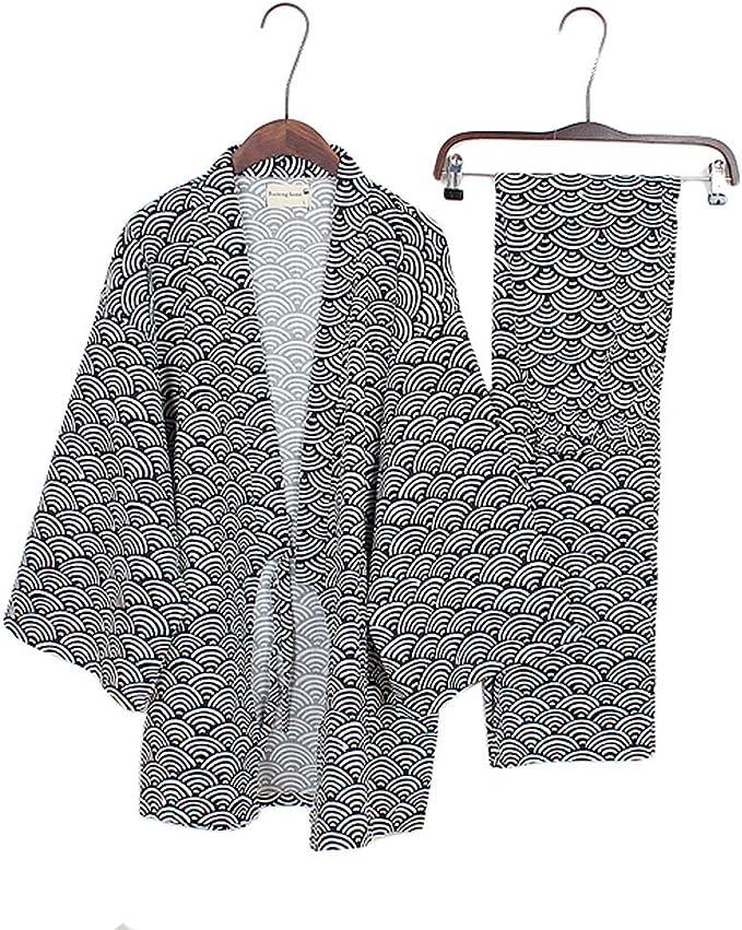 Trajes de Estilo japonés para Hombre Traje de Pijama de Puro ...
