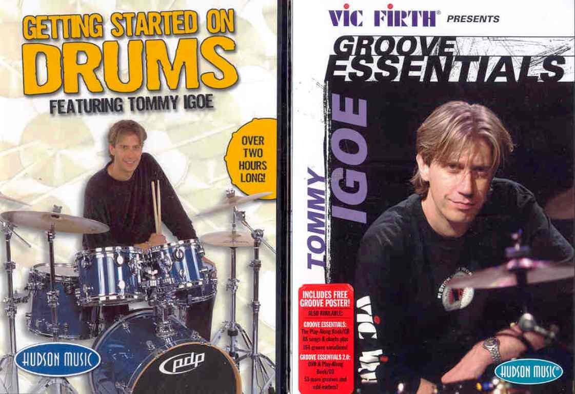 DVD : Tommy Igoe - Getting Started On Drums /  Groove Essentials (DVD)