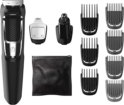 Philips Norelco Multigroom Serie 3000, MG3750 / 50, Barba viso e ...