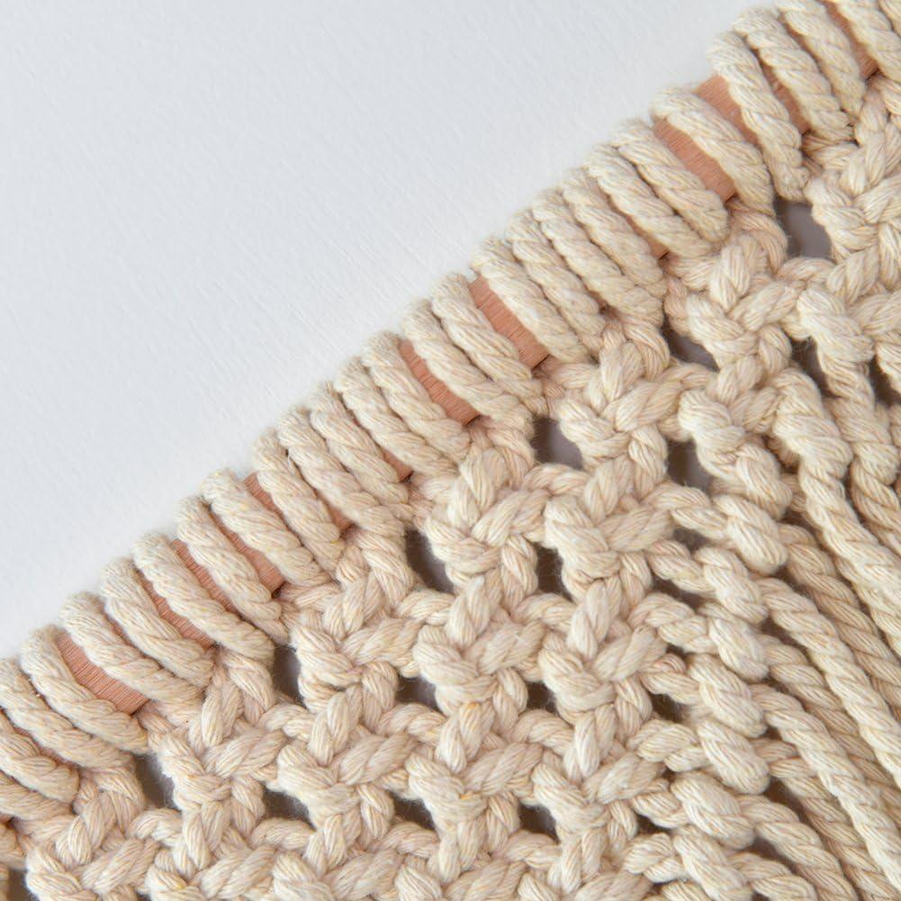 Tapiz de pared de macram/é hecha a mano color s/ólido hilo algod/ón tapiz Craft cortina Hanging Decor style 1