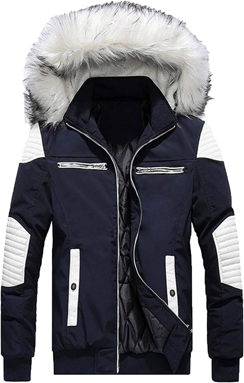 LEOCLOTHO Doudoune Homme Parka Blouson Veste /à Capuche Fourrure Artificiel Manteau Down Jacket