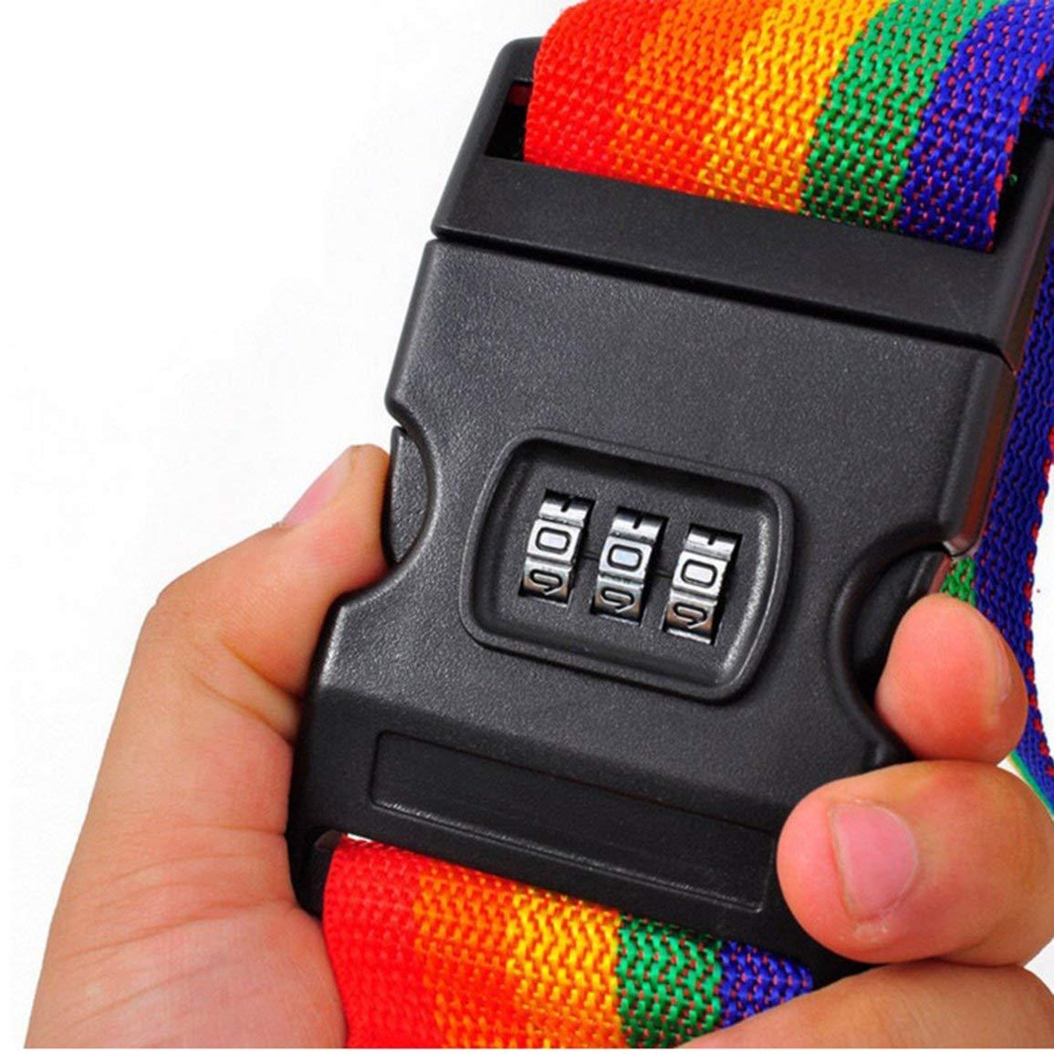 Color: Colorido Garciasia Pr/áctico tama/ño port/átil Equipaje de Viaje al Aire Libre Cintur/ón Correa de Embalaje Maleta Atar Cintur/ón de Seguridad de Seguridad