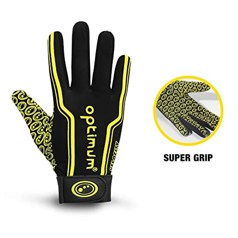 Amazon.com : Optimum Velocity Stik Mit, Black/Yellow, XL : Rugby Protective Gear : Sports & Outdoors