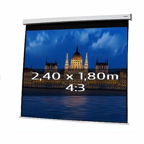 PANTALLA ELECTRICA DE PROYECCION 2,40x1,80m Formato 4:3: Amazon.es ...