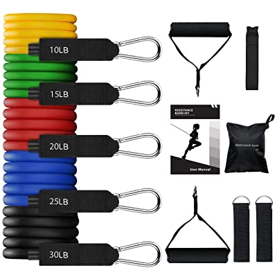 Gliding For 21 PCS Exercise Bands With Door Anchor PETUOL Resistance Bands Set