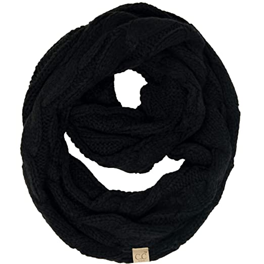 d64d17b03b9 Amazon.com  SK-6847-06 Kids Infinity Scarf - Solid Black  Clothing
