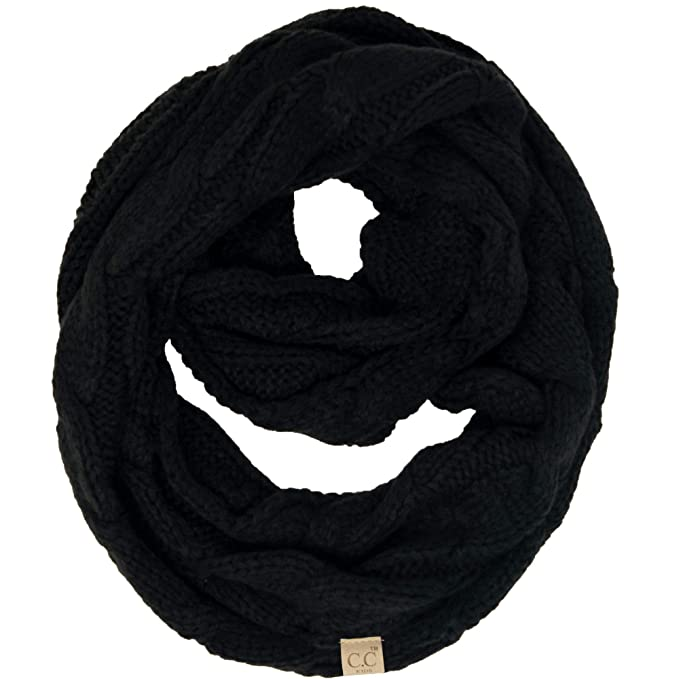 Amazon.com  SK-6847-06 Kids Infinity Scarf - Solid Black  Clothing 9b30df2660b