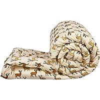 DHAWARIYA'S Printed Ultra Soft Cotton Microfibre Reversible Comforter,Single (Cream, 200 GSM)
