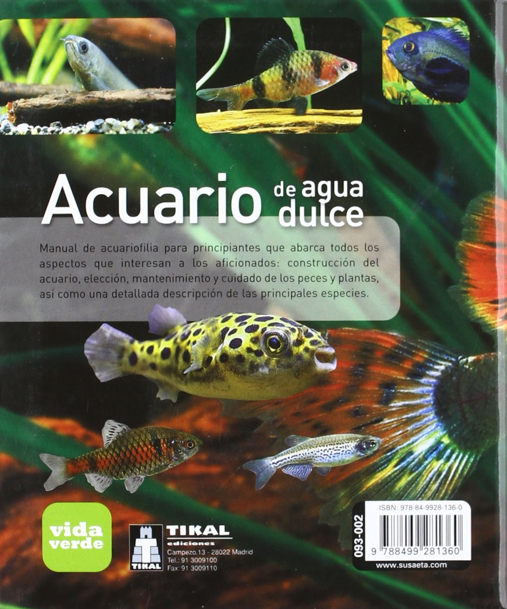 Acuario de agua dulce / Freshwater Aquarium (Spanish Edition): Tikal: 9788499281360: Amazon.com: Books