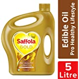 Saffola Gold, Pro Healthy Lifestyle Edible Oil, Jar, 5 L