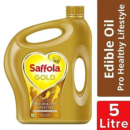 Saffola Gold, Pro Healthy Lifestyle Edible Oil, Jar, 5 L