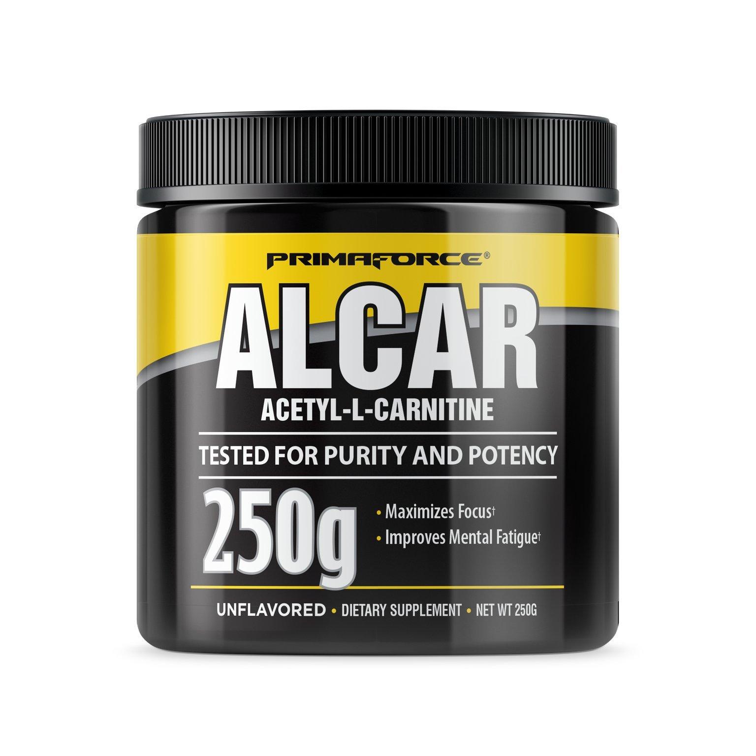 PrimaForce ALCAR Acetyl-L-Carnitine Powder Supplement, 250 Grams - Enhances Cognitive Function / Improves Memory
