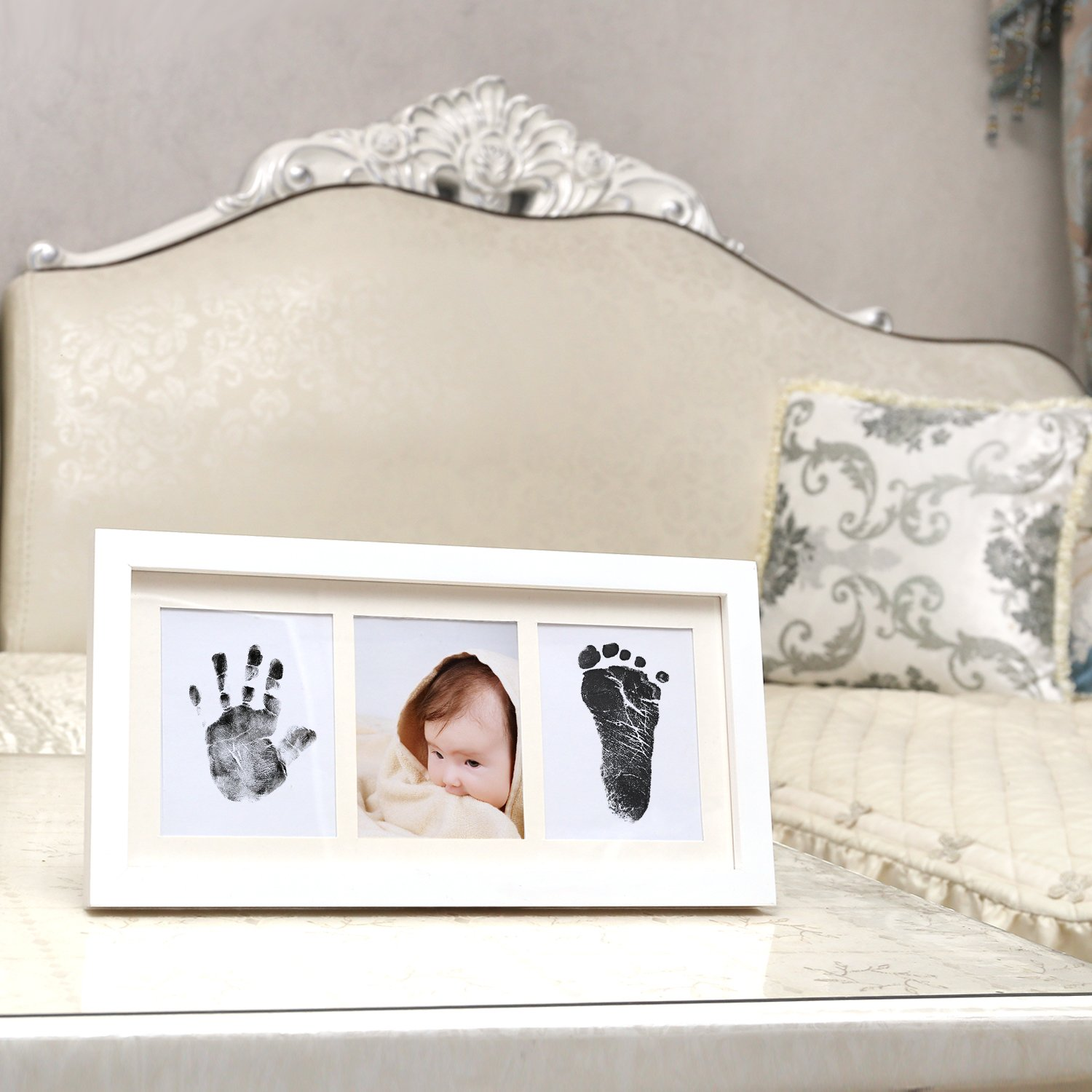 Upala Baby Handprint Footprint Photo Frame Kit Newborn Boys Girls, Babyprints Paper Clean Touch Ink Pad to Create Baby's Prints, Amazing by Upala (Image #3)