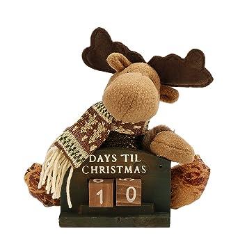 Weihnachtskalender Büro.Weihnachten Xmas Deko Schreibtisch Handwerk Weihnachtsbasteln Holz Retro Weihnachtsmann Schneemann Rentiere Weihnachtskalender Countdown Spielerei